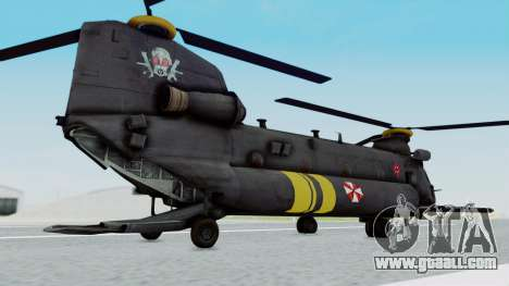 MH-47 Umbrella U.S.S for GTA San Andreas left view