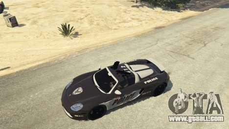 GTA 5 Porsche Carrera GT Cop steering wheel