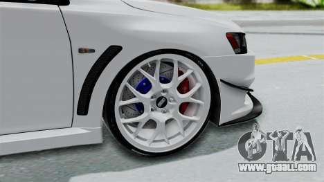 Mitsubishi Lancer Evolution X GSR Full Tunable for GTA San Andreas back left view