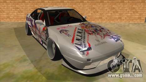 Nissan 240SX Stance Nico Yazawa Itasha Livery for GTA San Andreas back view