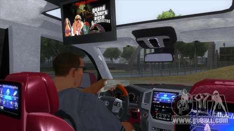 2016 Toyota Land Cruiser 200 V2 for GTA San Andreas inner view