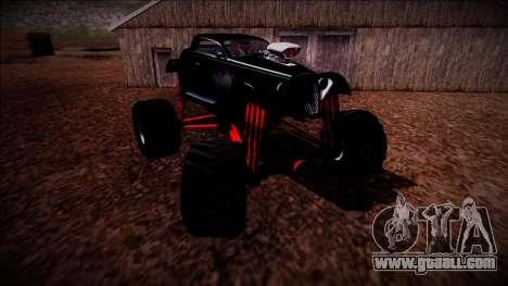 GTA 5 Hotknife Monster Truck for GTA San Andreas bottom view