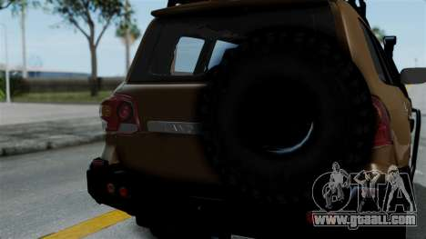 Toyota Land Cruiser 2013 Off-Road for GTA San Andreas back view