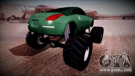 Nissan 350Z Monster Truck for GTA San Andreas left view
