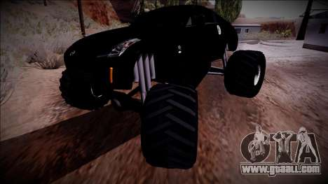 Nissan 350Z Monster Truck for GTA San Andreas upper view