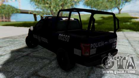 Ford F-150 2015 Policia Federal for GTA San Andreas left view