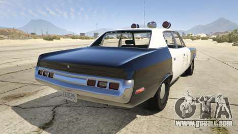 GTA 5 1972 AMC Matador LAPD rear left side view