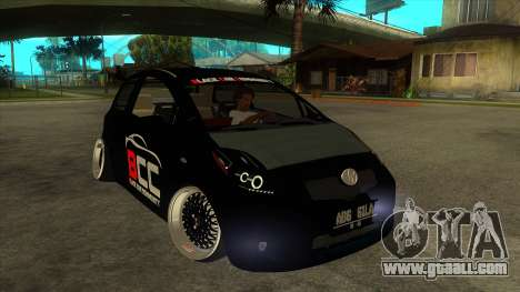 Toyota Yaris (Vitz) [Black Car Community] for GTA San Andreas back view