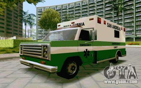 Journey Ambulance for GTA San Andreas back left view