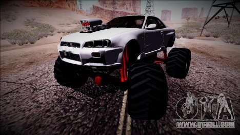 Nissan Skyline R34 Monster Truck for GTA San Andreas