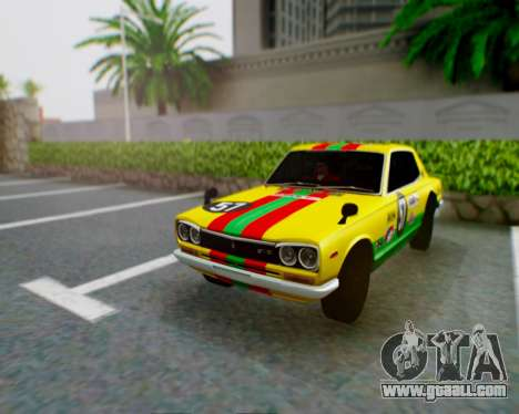 Nissan 2000GT-R [C10] Tunable for GTA San Andreas