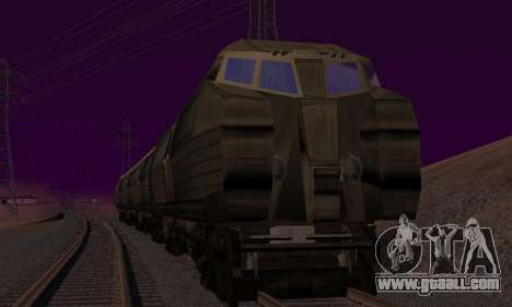 Batman Begins Monorail Train v1 for GTA San Andreas right view
