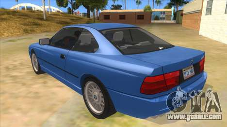 BMW 850i E31 for GTA San Andreas back left view