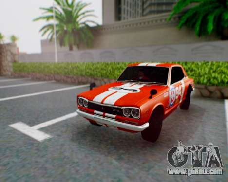 Nissan 2000GT-R [C10] Tunable for GTA San Andreas left view