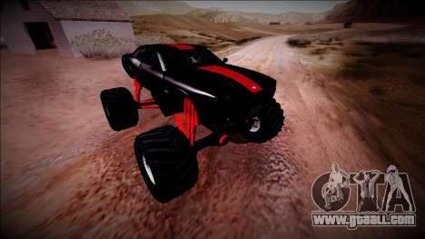 GTA 5 Bravado Gauntlet Monster Truck for GTA San Andreas bottom view