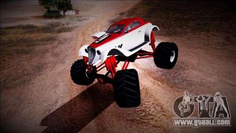GTA 5 Hotknife Monster Truck for GTA San Andreas left view
