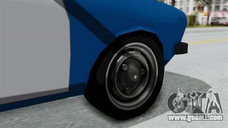 Dacia 1300 Police for GTA San Andreas back left view