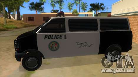 GTA 5 Burrito Transport for GTA San Andreas left view