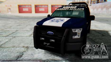 Ford F-150 2015 Policia Federal for GTA San Andreas right view