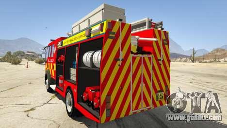 GTA 5 DAF Lancashire Fire & Rescue Fire Appliance rear left side view