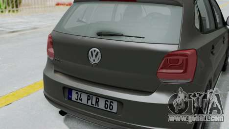 Volkswagen Polo 6R 1.4 HQLM for GTA San Andreas back view