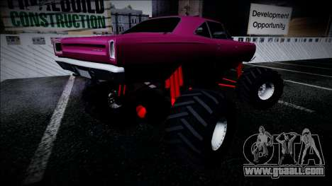 1969 Plymouth Road Runner Monster Truck for GTA San Andreas right view