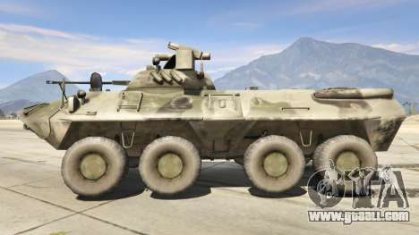 GTA 5 BTR-90 Rostok left side view