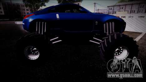 Nissan 350Z Monster Truck for GTA San Andreas right view