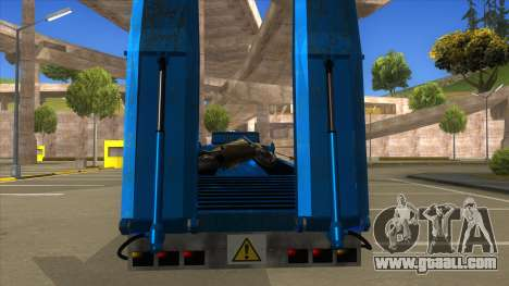 Trailer with Hydaulic Ramps for GTA San Andreas inner view