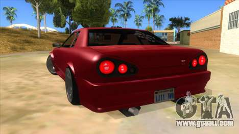 GTR Elegy for GTA San Andreas back left view