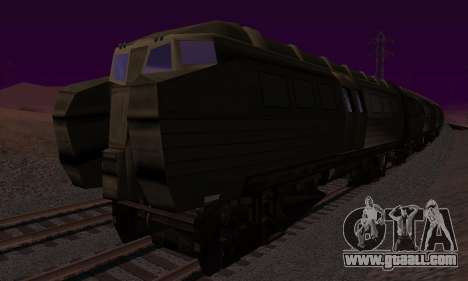 Batman Begins Monorail Train v1 for GTA San Andreas back view