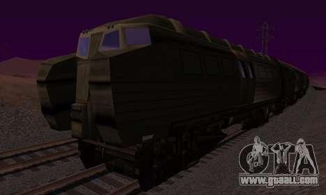 Batman Begins Monorail Train v1 for GTA San Andreas back view