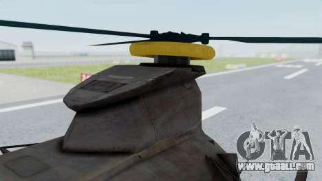 MH-47 Umbrella U.S.S for GTA San Andreas right view