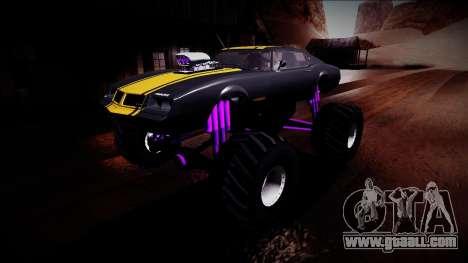 GTA 5 Imponte Phoenix Monster Truck for GTA San Andreas bottom view
