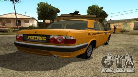 GAZ 31105 Volga Taxi IVF for GTA San Andreas back left view