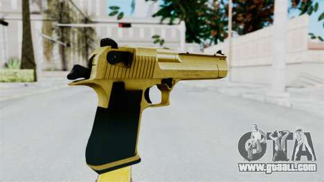 Pouxs Desert Eagle v2 Gold for GTA San Andreas third screenshot
