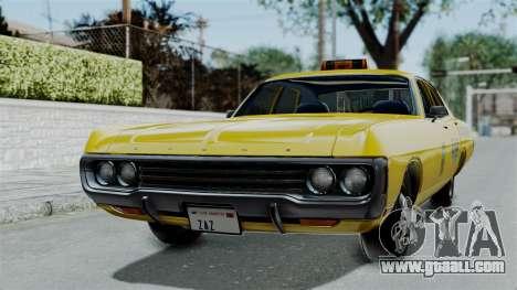 Dodge Polara 1971 Kaufman Cab for GTA San Andreas