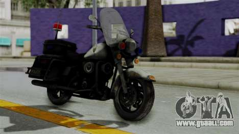 Police Bike from RE ORC for GTA San Andreas right view
