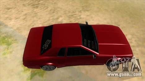 GTR Elegy for GTA San Andreas inner view