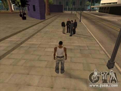 Russians in the Shopping district for GTA San Andreas third screenshot