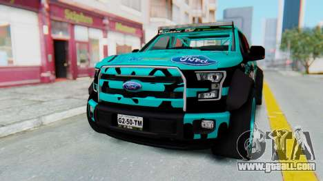 Ford F-150 2015 Drift Gym for GTA San Andreas back left view