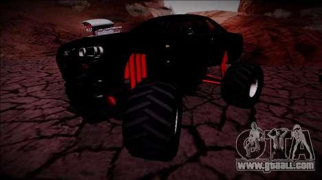 Nissan Skyline R34 Monster Truck for GTA San Andreas inner view