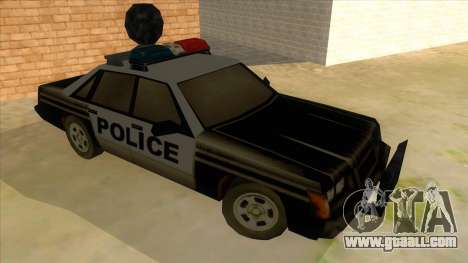 Police Car from Manhunt 2 for GTA San Andreas back view