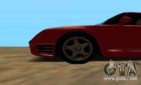 Porsche 959 for GTA San Andreas back left view