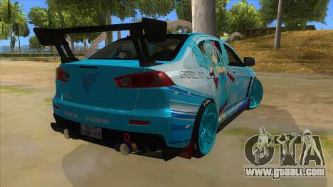 Mitsubishi Lancer Evolution X Koi-chan Itasha for GTA San Andreas right view