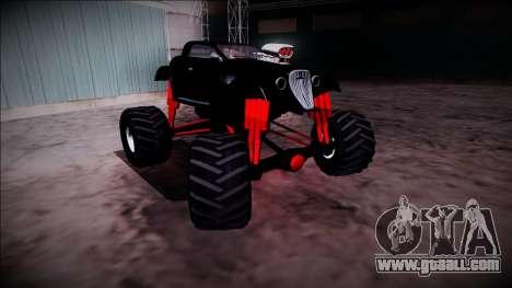 GTA 5 Hotknife Monster Truck for GTA San Andreas side view