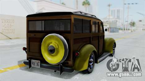 Ford V-8 De Luxe Station Wagon 1937 Mafia2 v2 for GTA San Andreas left view