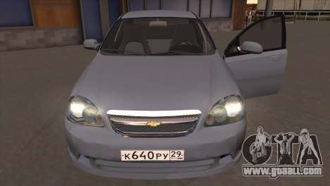 Chevrolet Lacetti Sedan for GTA San Andreas back view