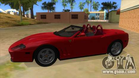 Ferrari 550 Barchetta Pinifarina US Specs 2001 for GTA San Andreas left view