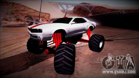 GTA 5 Bravado Gauntlet Monster Truck for GTA San Andreas side view